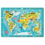Dėlionė Pasaulio žemėlapis 80 detalių